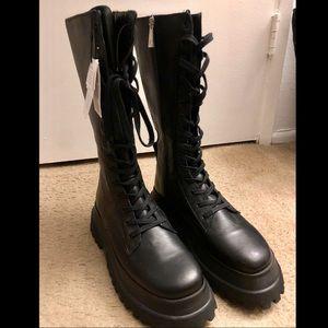 Zara Platform Boots 9